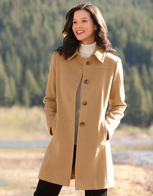 Just found this Womens Dress Coat - Camel-Hair-Blend Dress Coat ...