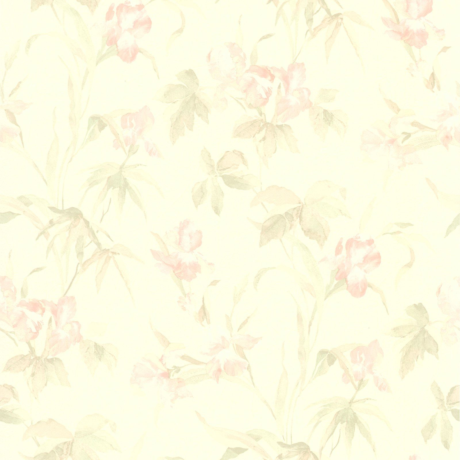 Brewster Iris Floral Wallpaper Light Pink Floral Wallpaper