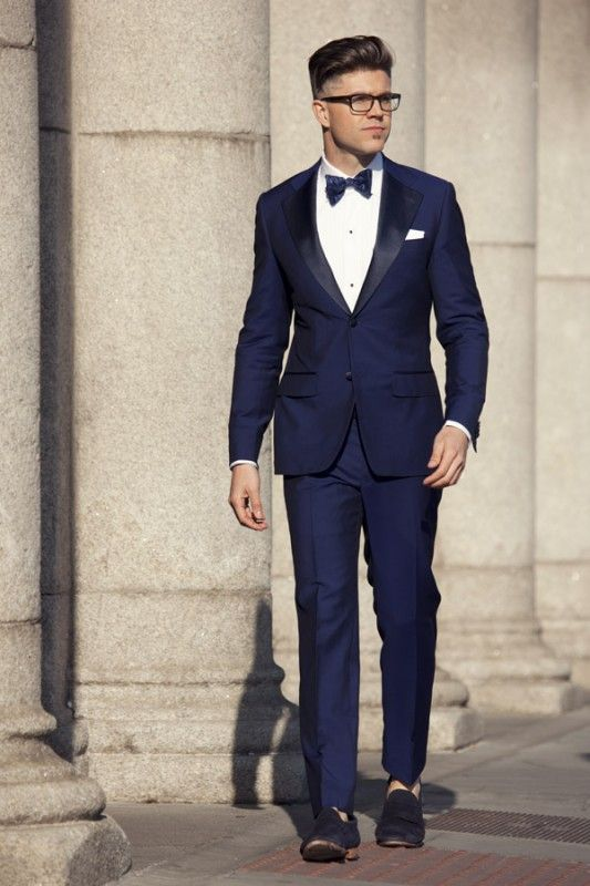 The 'Harry' Midnight Blue Dress Suit | Smoking jacket/Tuxedo ...