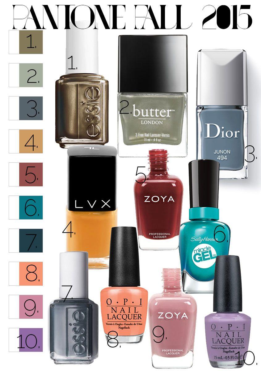 Pantone Fall 2015 Inspired: The Best Fall 2015 Nail Polish Colors ...