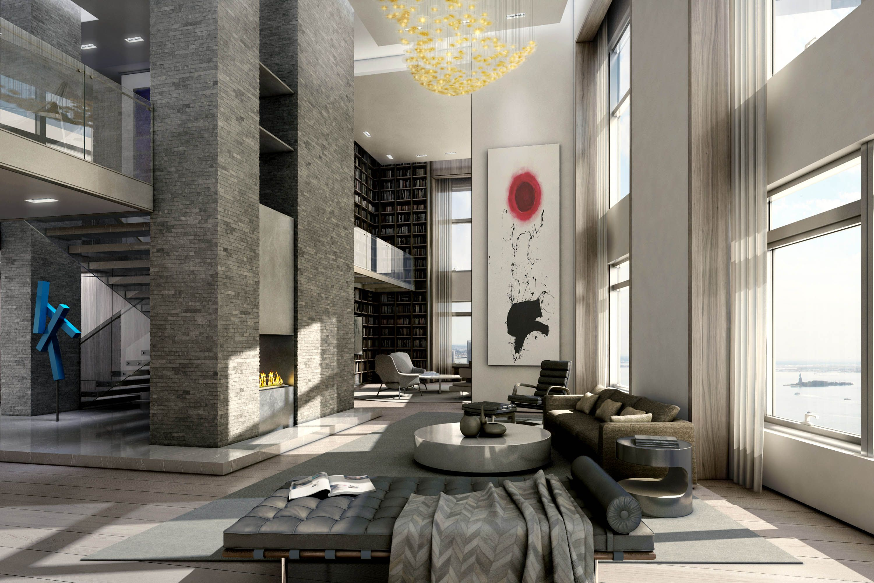 Pricey Luxury Penthouse In New York As Urban Living Space Amazing High FiDi Real