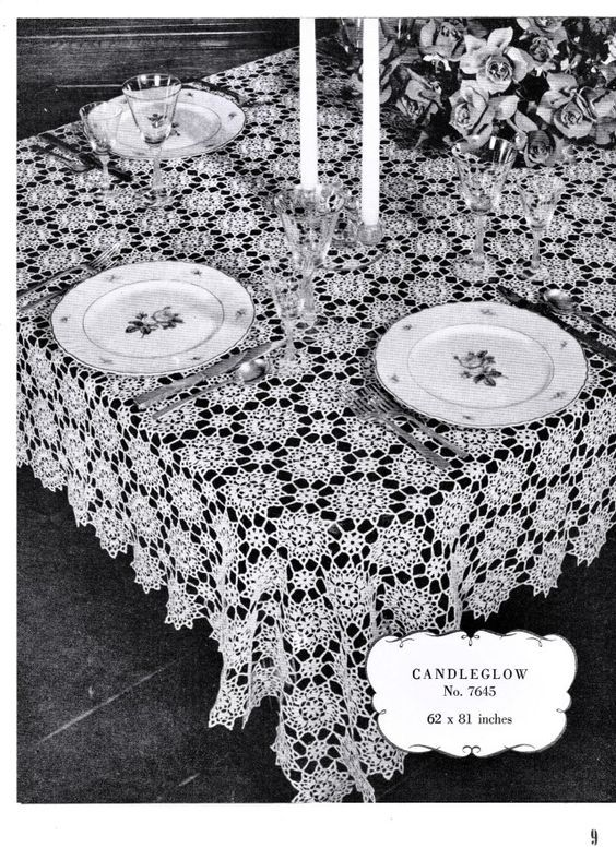 Free Vintage Filet Crochet Tablecloth Patterns Crochet Tablecloth