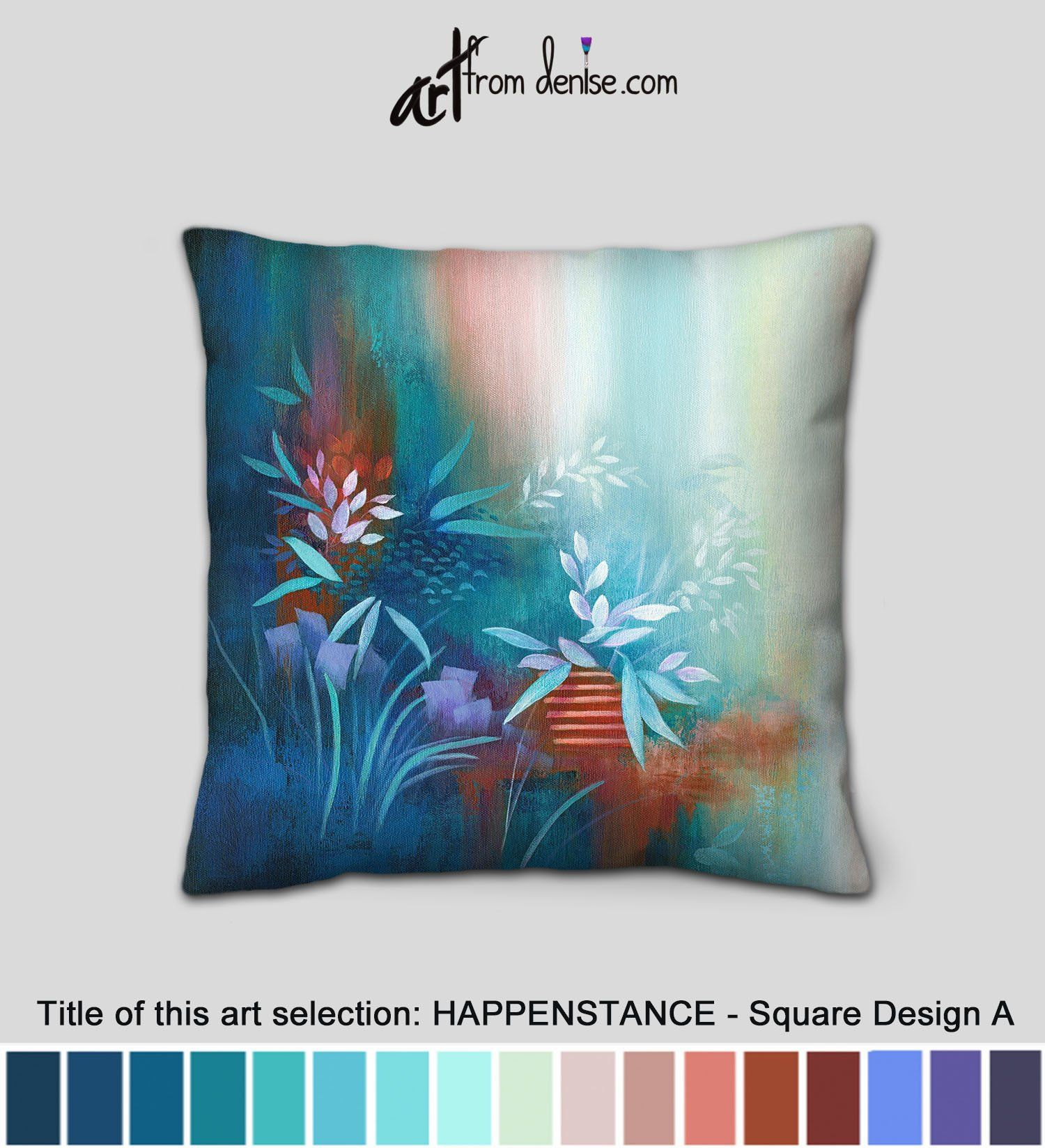 Navy and turquoise throw pillows