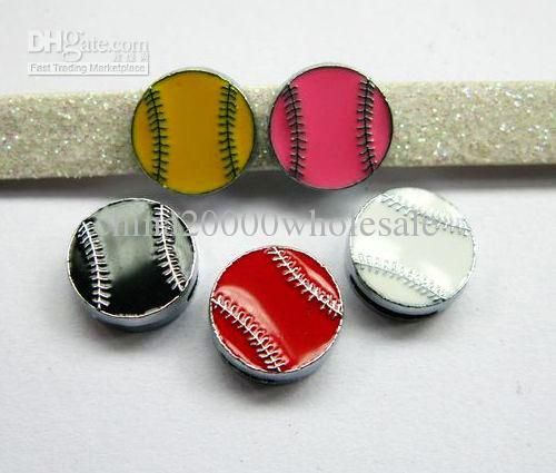 Wholesale Enamel Hot Baseball Slide Charms Fit Wristbands/Bracelets Pet Collars/Tag bands, Free shipping, $0.26/Piece   DHgate