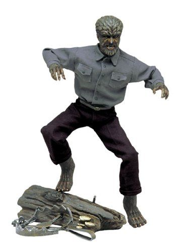 "Amazon.com: Lon Chaney as The Wolf Man Universal Studios Monsters 12"" Figure: Toys & Games"