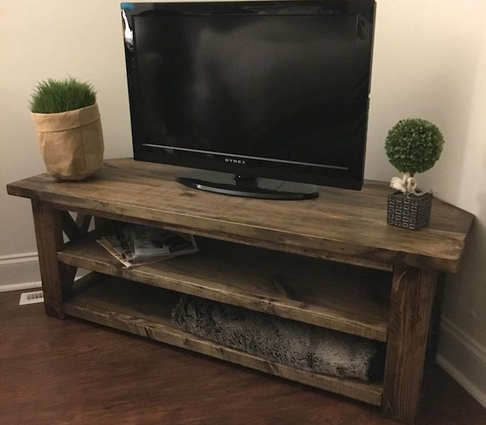 Build A Tv Stand Or Media Console With These Free Plans Build A Tv Stand Farmhouse Tv Stand Corner Tv