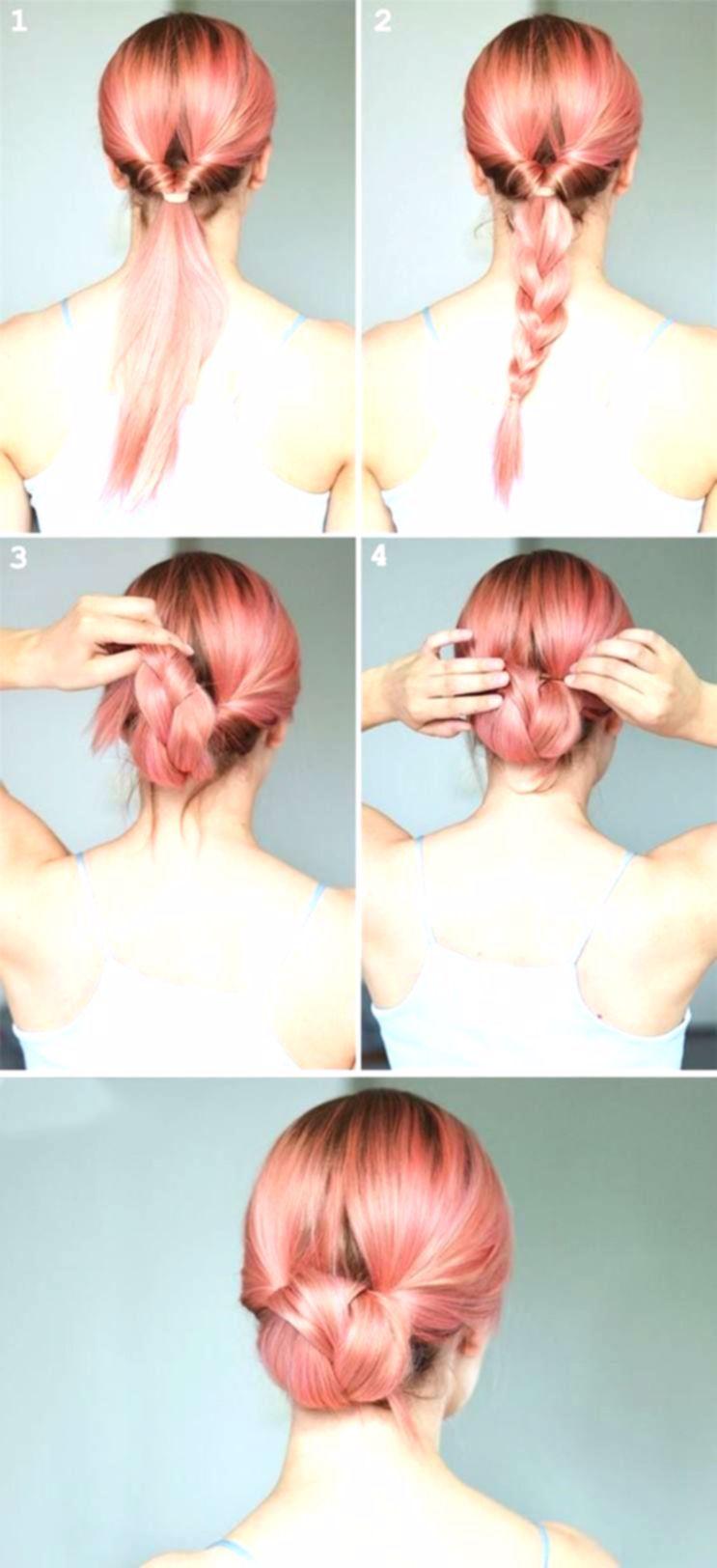 idea peinado fácil trabajo trenzado parte inferior del moño #pelo #style