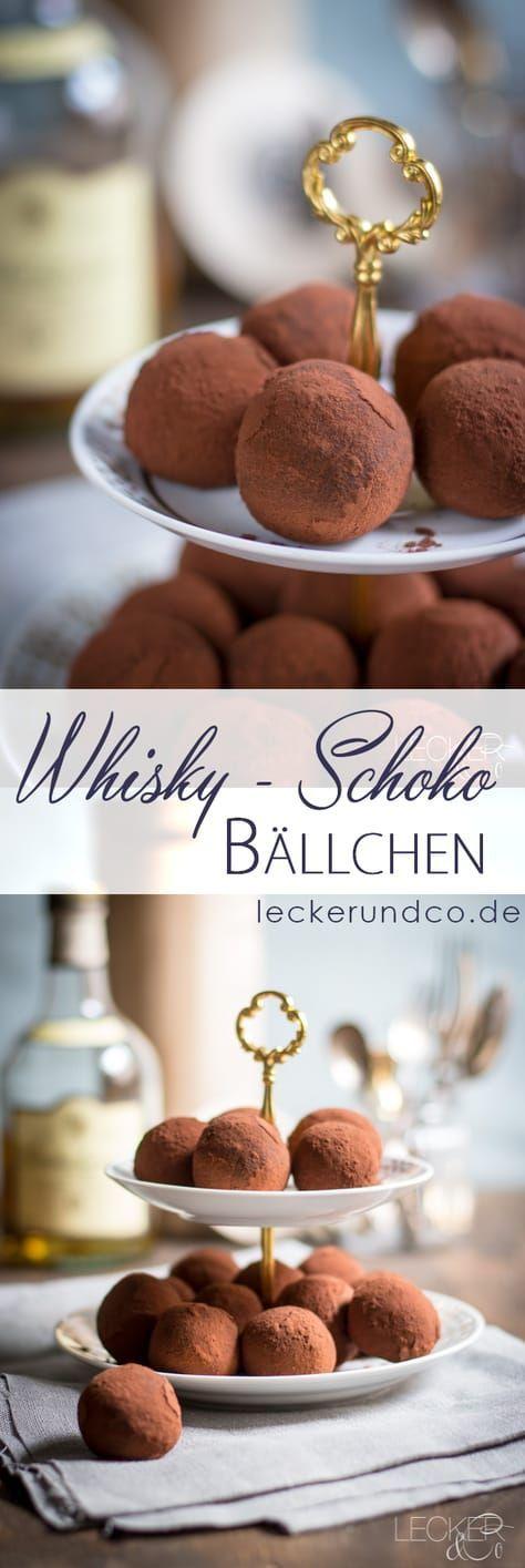 Whisky Schokoladen Bällchen   LECKER&Co   Foodblog aus Nürnberg