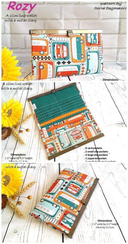 Rozy wallet pattern | Diy tasche und Nähen