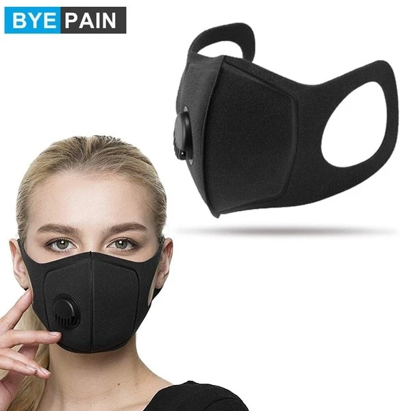n95 4 layer breathing valve dustproof anti-virus fog pathogen mask