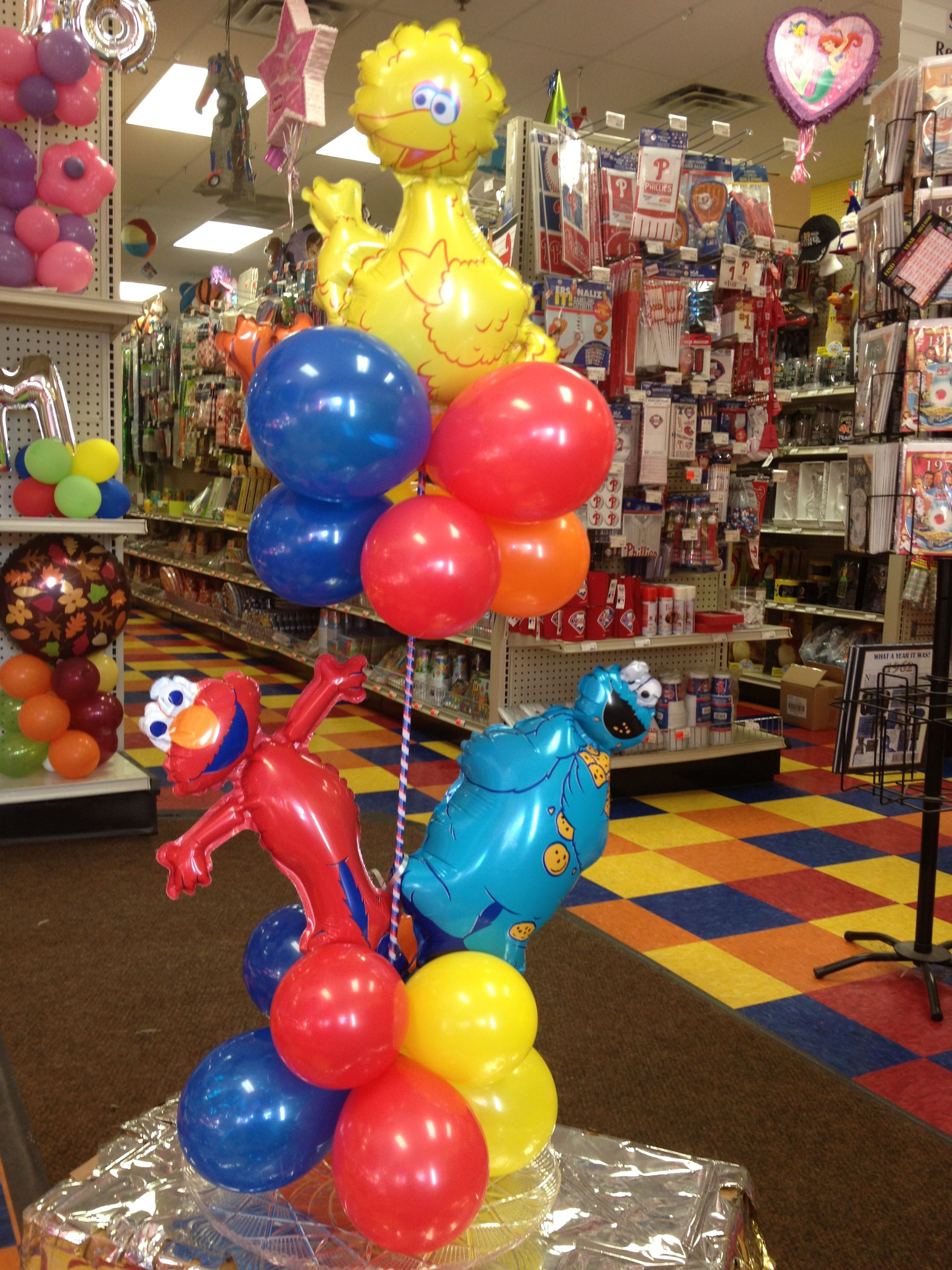 Sesame Street centerpiece Balloon Centerpi Pinterest
