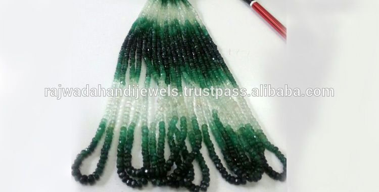 15 inches 4 to 4.50 mm Natural shaded Zambia Emerald Faceted roundel beads strands, Zambian Emerald shaded necklaces
