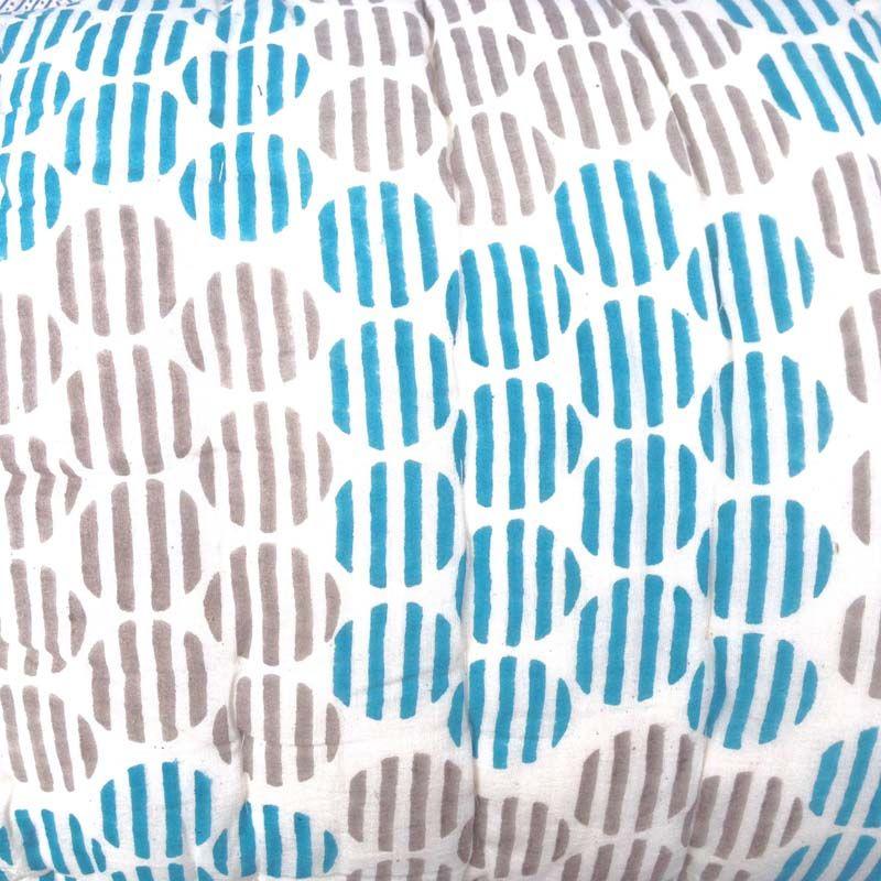 Quilted Cotton Eiderdown - Double Bedspread - Kasakosa Home Decor - Indian Patterns - block print