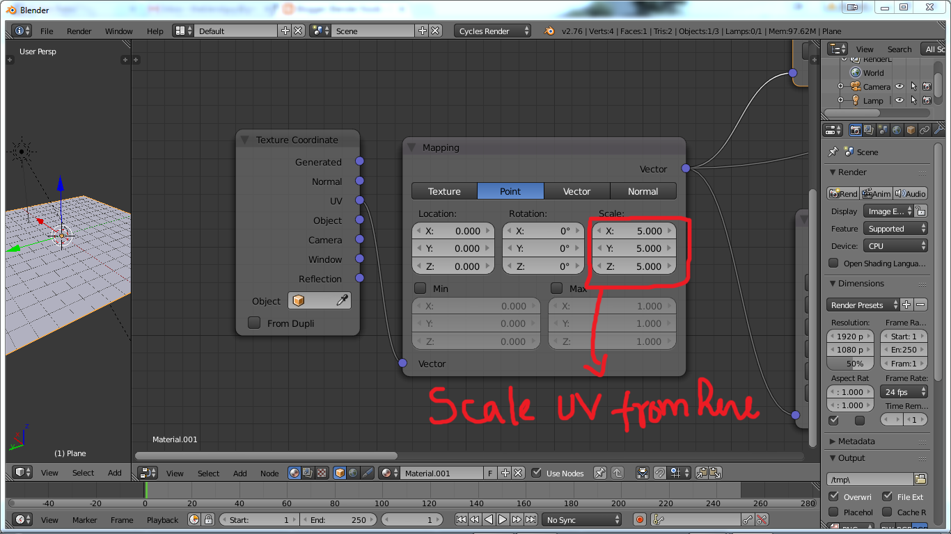Step 1 Setting Up The Work Space Divide The Area Into Uv Editor