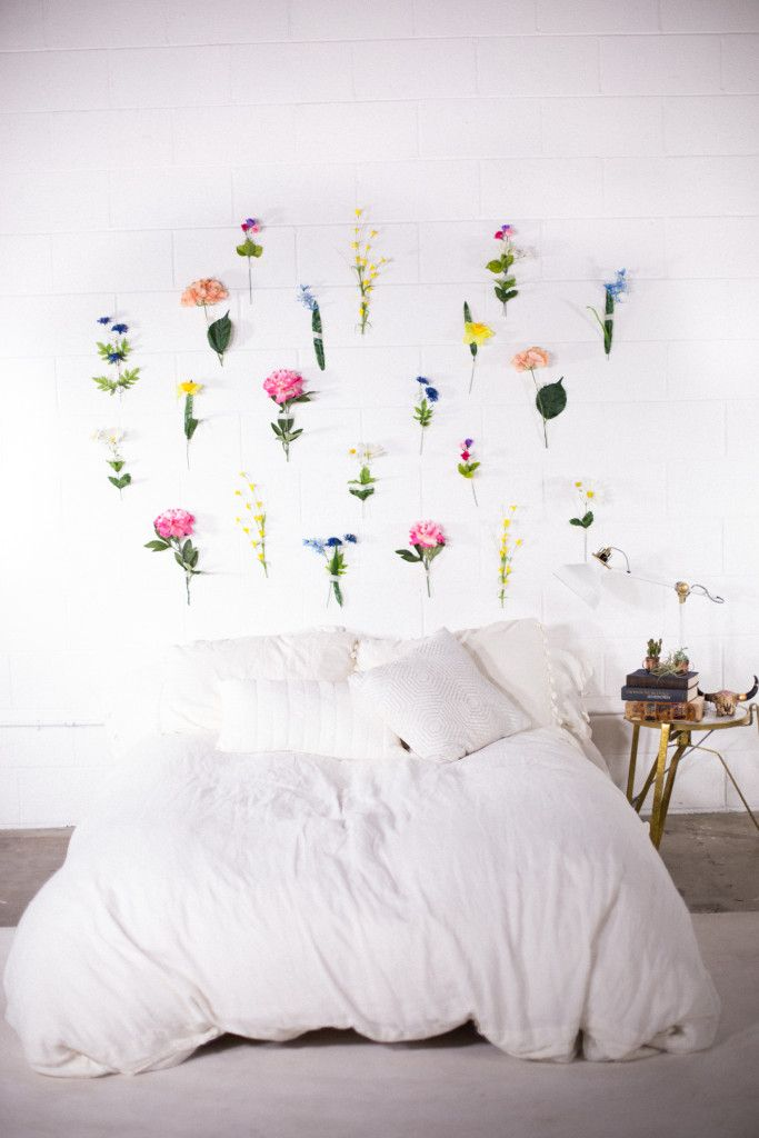 DIY Flower Wall | Creative wall decor, Diy flower wall, Room decor