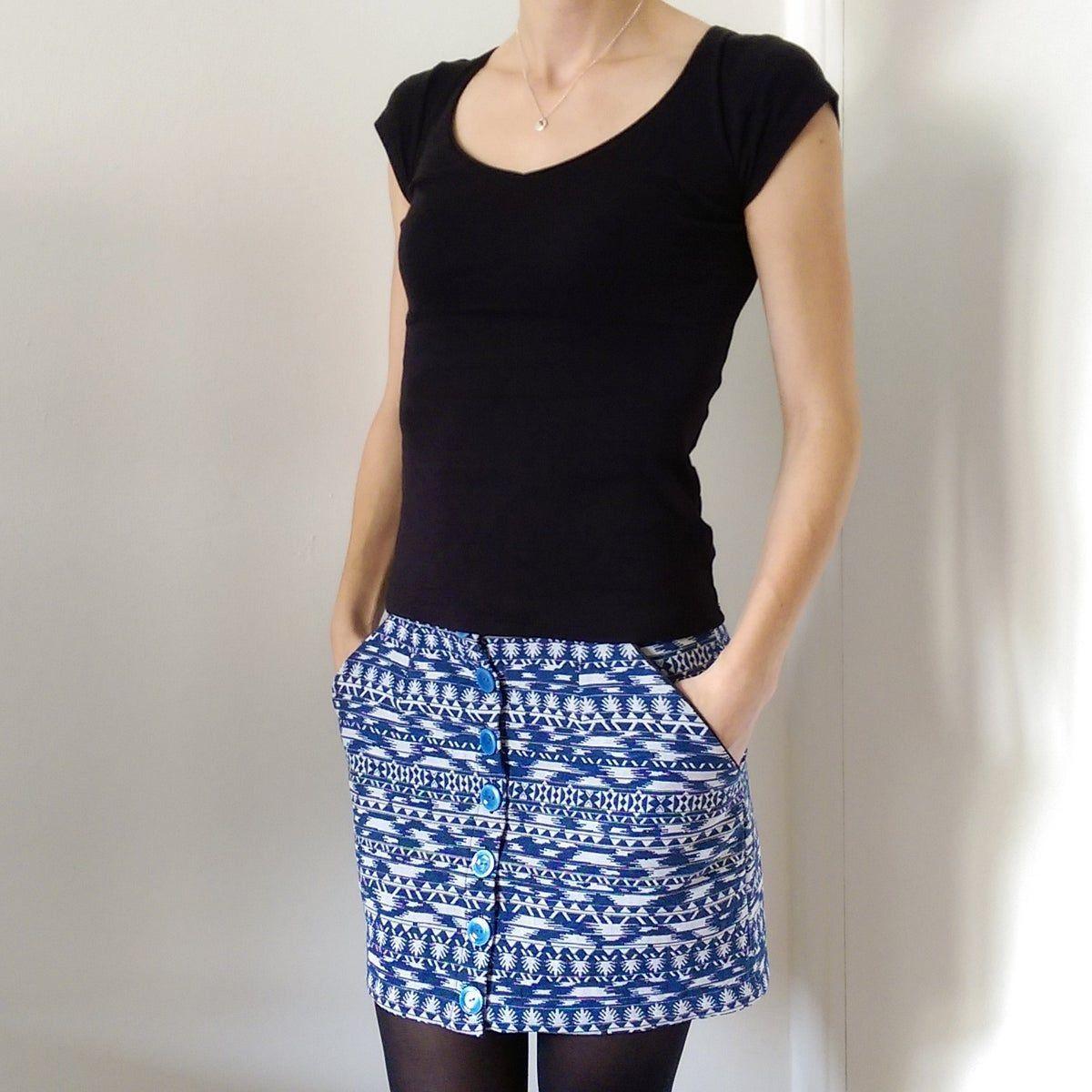 Patron fichier PDF à imprimer au forma  skirt courte cuir en jean longue fashion indian outfits outfits summer style