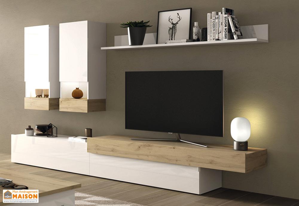 Wohnzimmermobel Aus Holz 1 Tv Stander 2 Wandvitrinen Und 1 Aura Regal In 2020 Living Room Tv Wall Wooden Living Room Furniture Living Room Tv Unit Designs