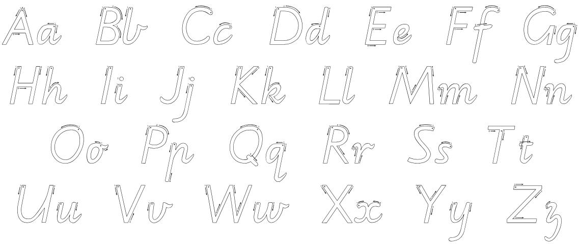 victorian modern cursive handwriting worksheets - Google ...