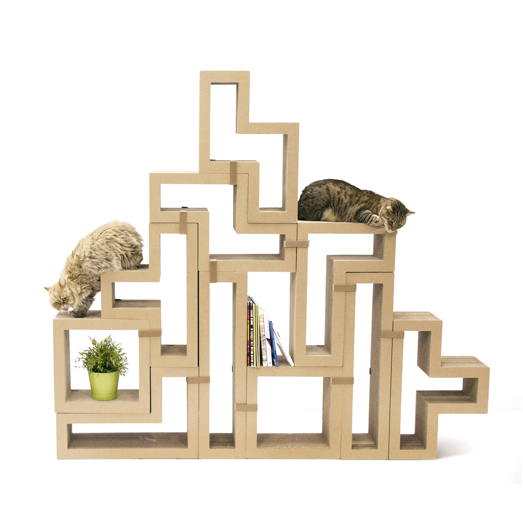 Katris Modular Cat Tree Original Kraft Collection 26 H Petco Cat Scratching Furniture Modular Furniture Condo Furniture