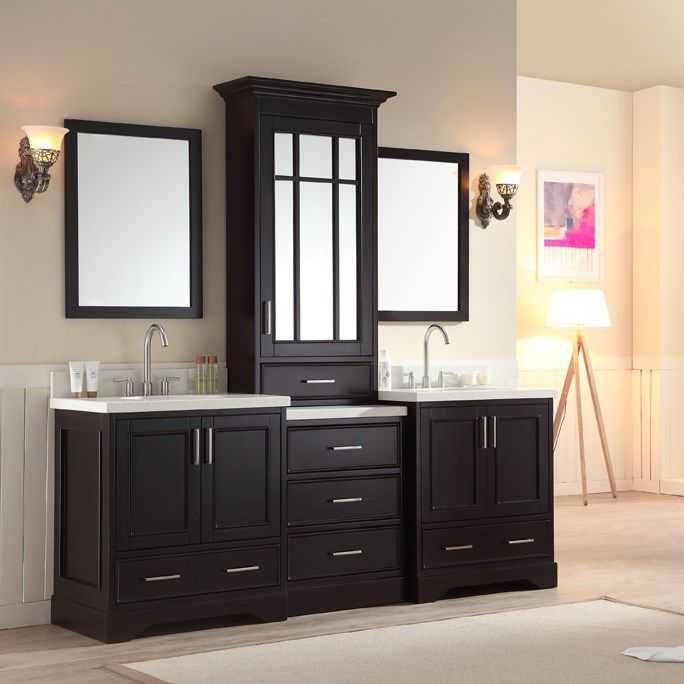 Stafford 85 inch Double Sink Bathroom Vanity Set Bathroom