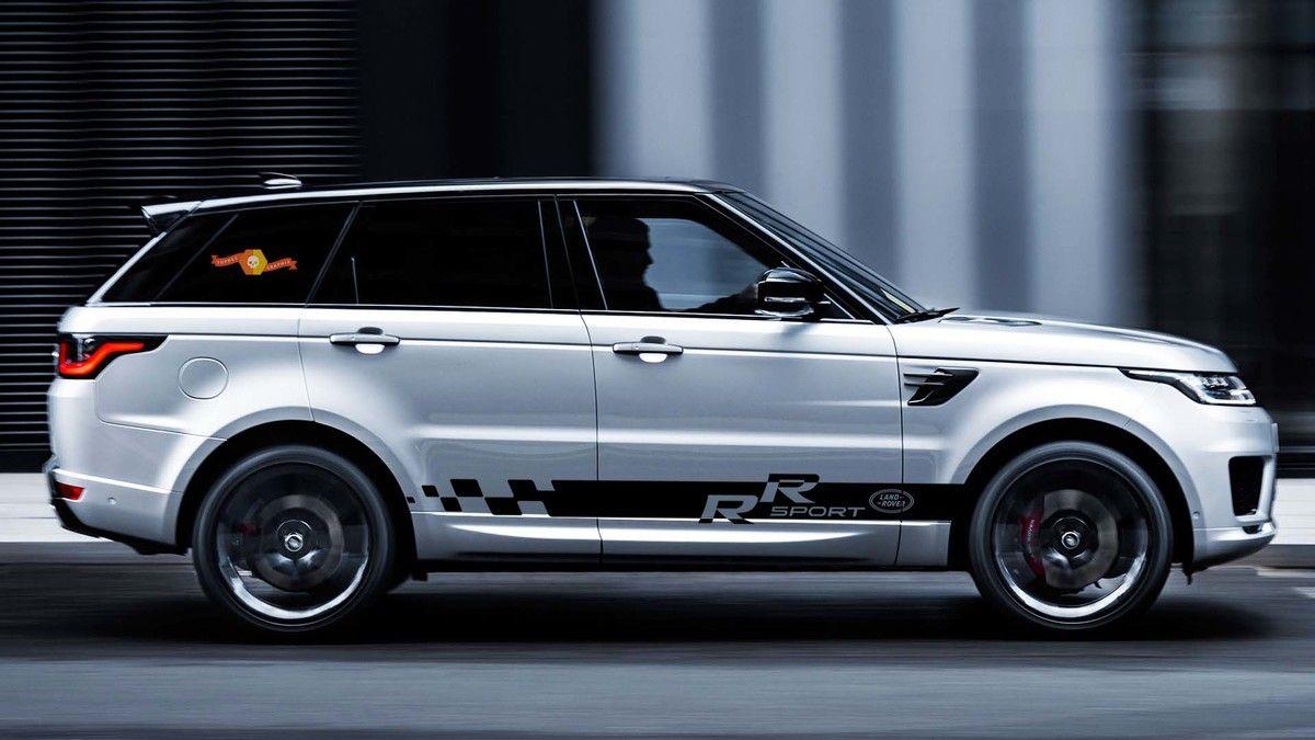 Range Rover 2x Side Stripes Body Decal Vinyl Graphic Sticker Logo For Land Rover Motos [ 675 x 1200 Pixel ]