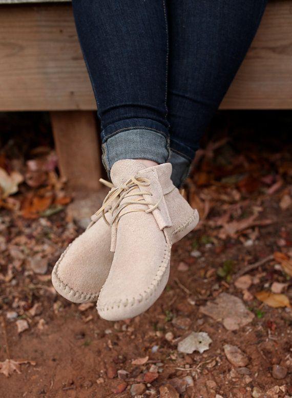 Handmade Leather Lace Up Inca Boot Moccasin by FelixAndAtlas Boty Bez  Podpatku 222bca3150