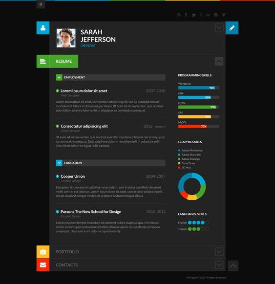 11 of the best dark drupal themes  down  drupal resume