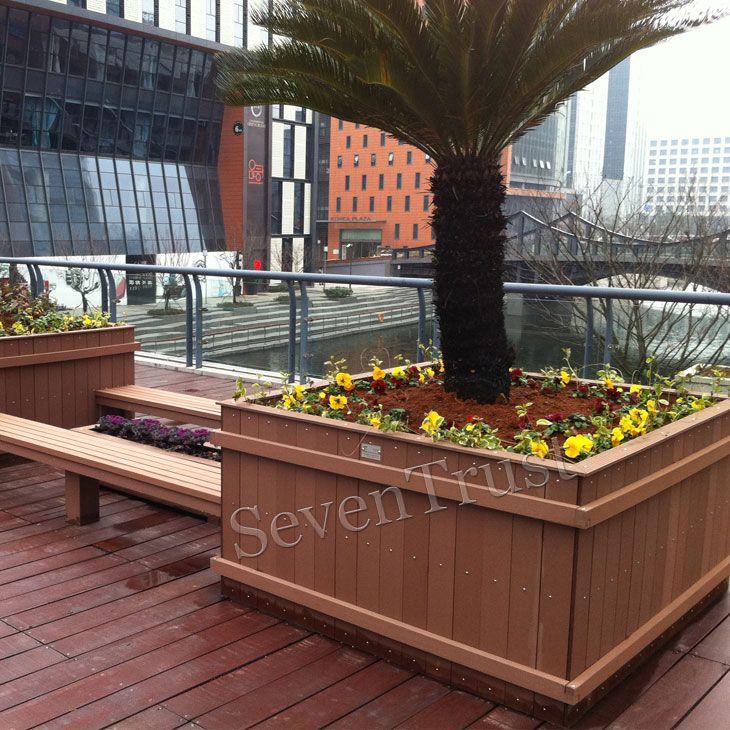 Composite Pvc Planter Boxes For Decks And Patios: Composite Wooden Deck Box ,build A Flower Box Outdoor