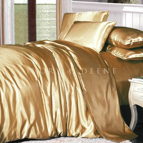 Satin Bedding Duvet, Gold Satin Bedding