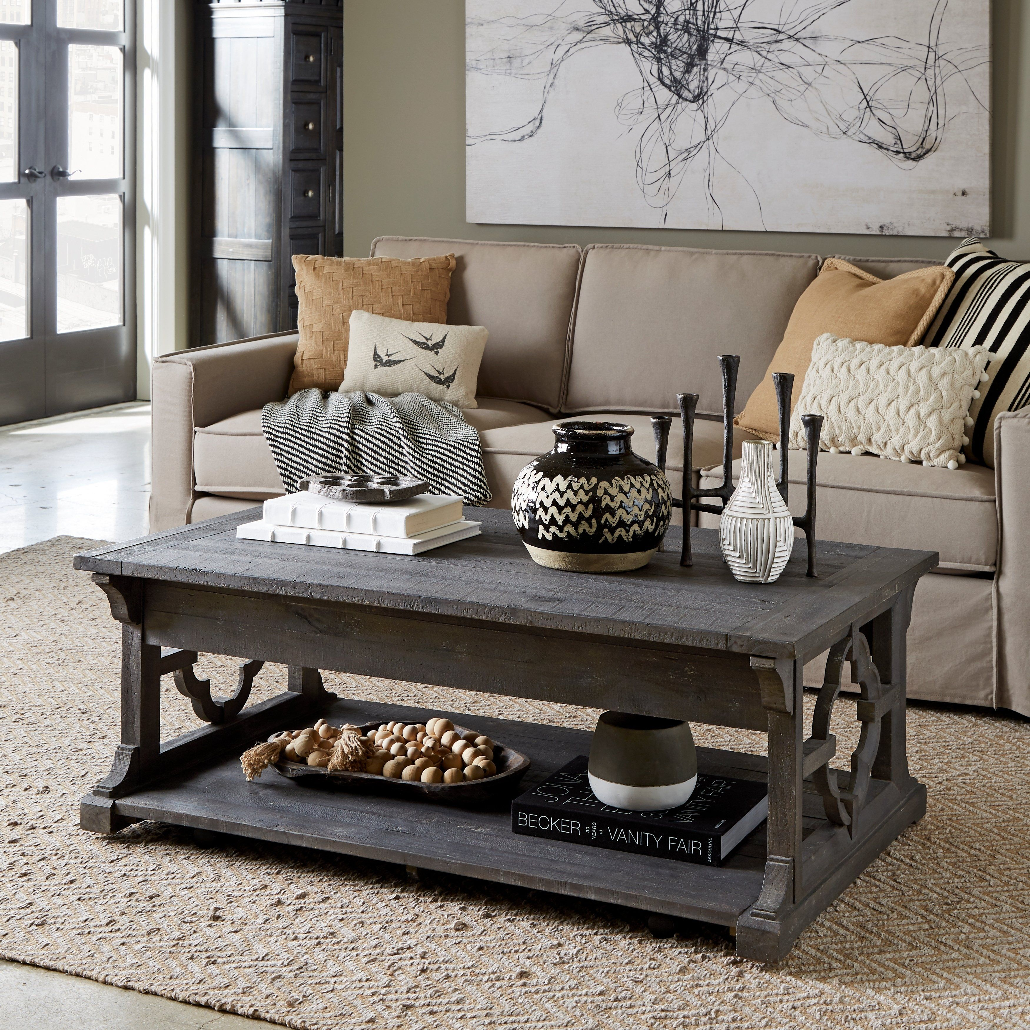 Cool Norwood Rustic Grey Lift Top Coffee Table With Casters In Bralicious Painted Fabric Chair Ideas Braliciousco