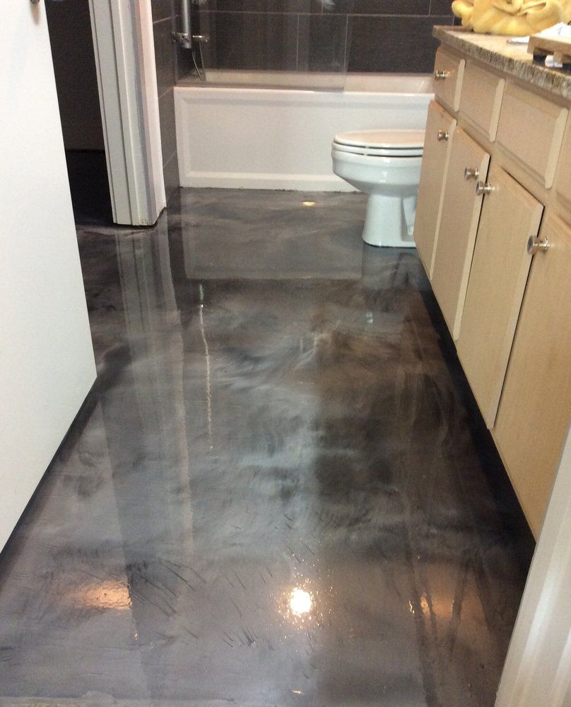 Countertop icoat metallic google search kitchen for Concrete floor coatings