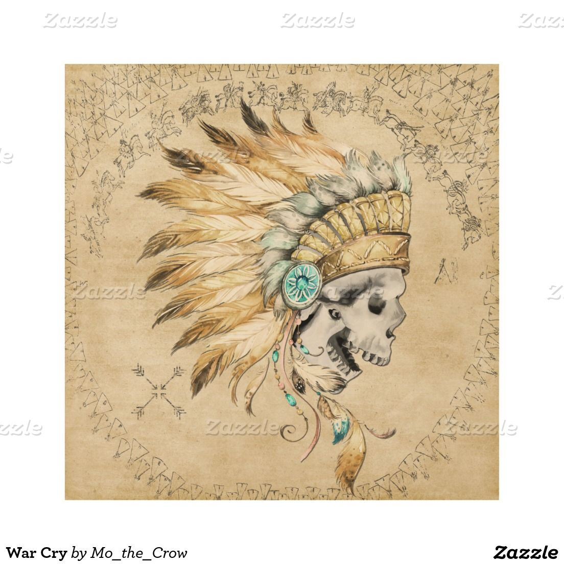 War Cry Wood Wall Art | Native American Male oriented for sale ...