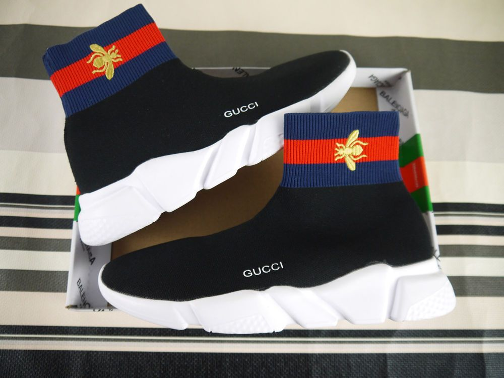 cab77d988e5 DS   LIMITED SIZE 10 US GUCCI x BALENCIAGA MEN S SPEED TRAINER KNIT ...