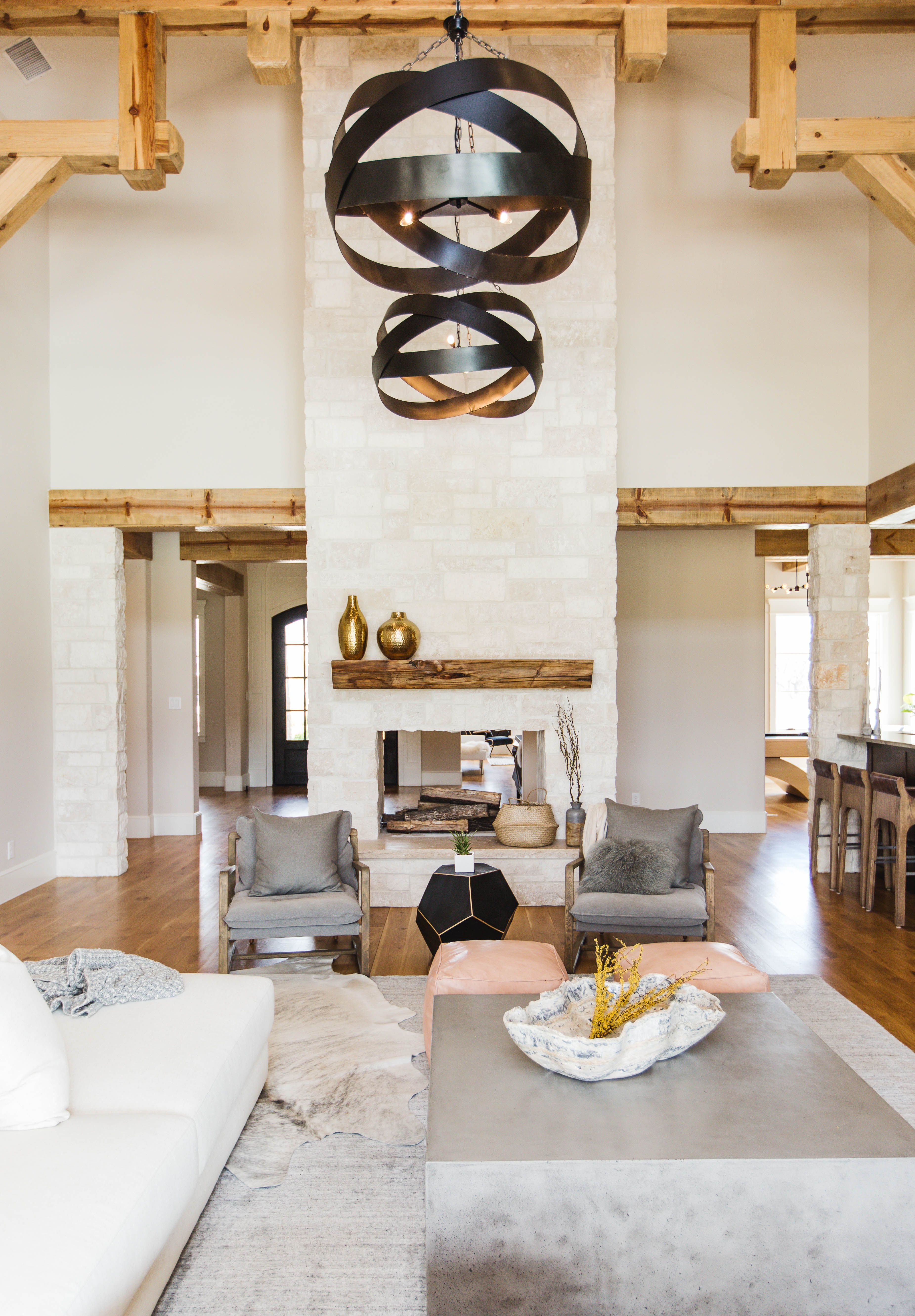 High Ceilings Dressed With Eye Catching Lighting Draw The Eye