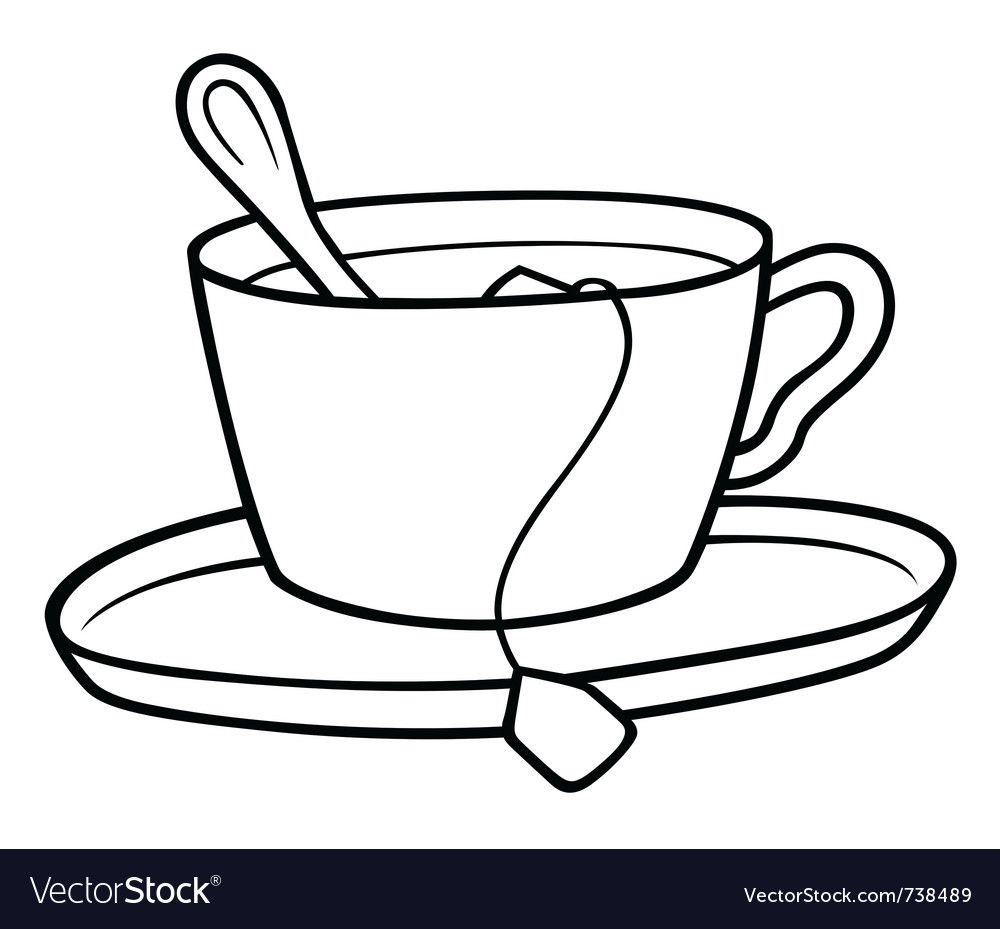 Tea Cup Vector Image On Unique Tea Tea Cups Black And White