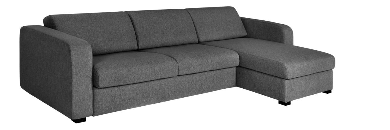 Porto 3 Canape D Angle Convertible Et Reversible 3 Places En Tissu Avec Rangement Gris Canape Angle Convertible Petit Canape Lit Et Canape Angle