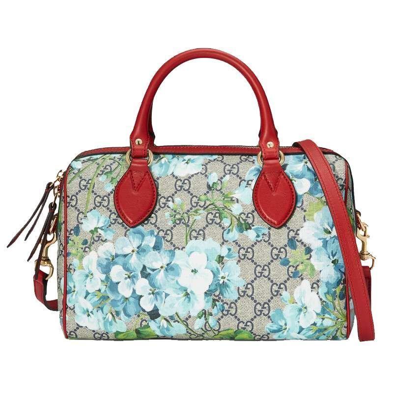 e2ce641b081 Gucci Blooms GG Supreme Small Boston Handbag 409529