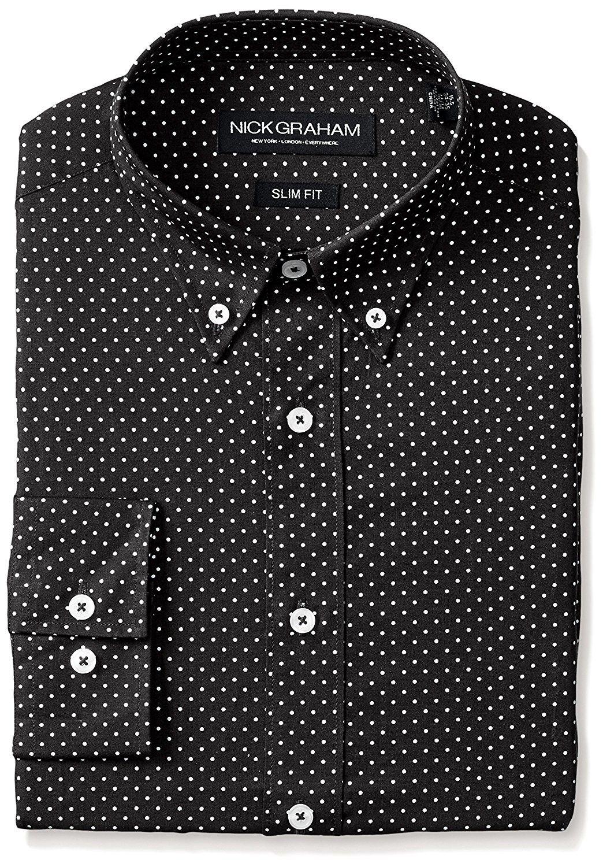 86025c2d9e Men's Clothing, Shirts, Dress Shirts, Men's Slim Fit Print Dress Shirt -  Black (Dot) - CQ12CI82Z0V #men #fashion #clothing #style #outfits #Dress  Shirts ...