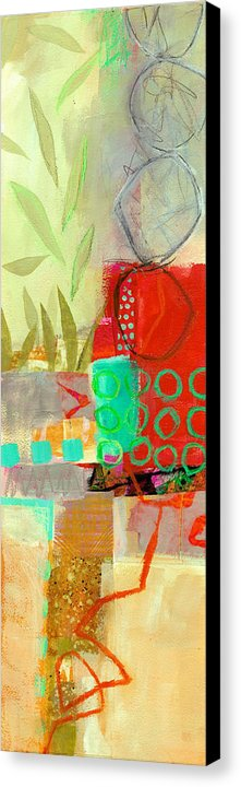 Vertical Canvas Print featuring the painting Vertical 5 by Jane Davies