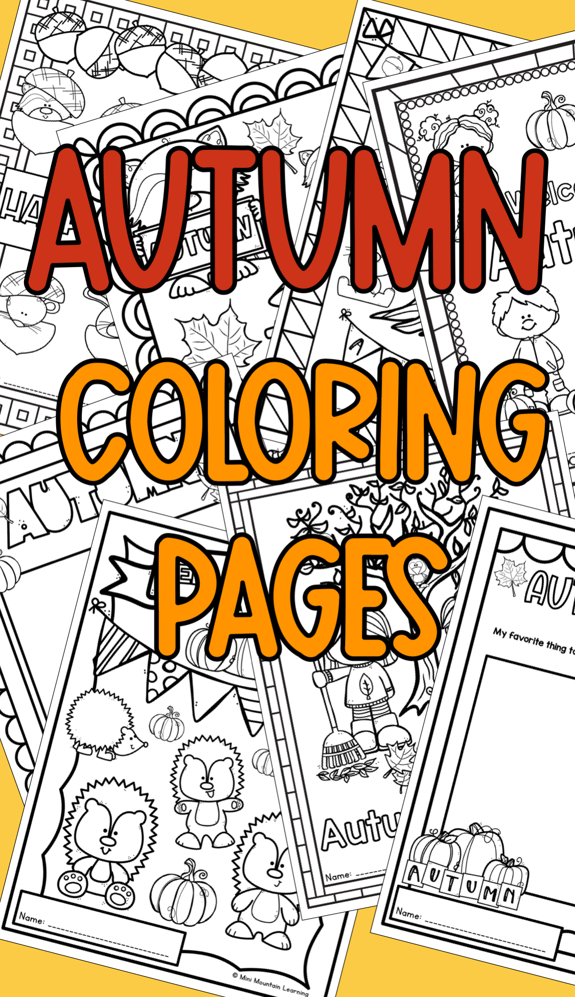 Use these fun autumn coloring pages in your class during