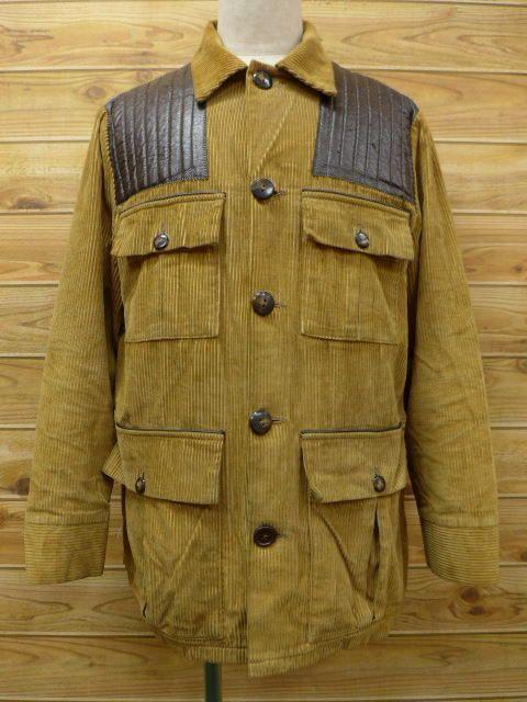 RUSHOUT: Vintage vintage hunting jacket corduroy JACKET VINTAGE mens used L  size hunting jacket men's clothing vintage clothes hunting jacket.