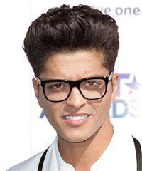Bruno Mars Short Straight Dark Brunette Hairstyle Straight Formal Hairstyles Dark Brunette Hair Formal Hairstyles