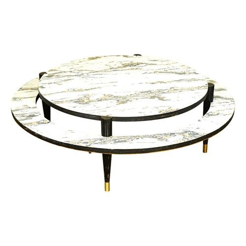 Large Scale Two Tier Mid-Century Modern Coffee Table With