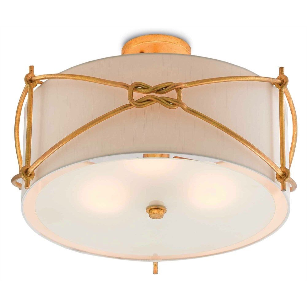Currey Co Ariadne Semi Flush In Contemporary Gold Leaf 9000 0272 Flush Ceiling Lights Small Lanterns Large Chandeliers