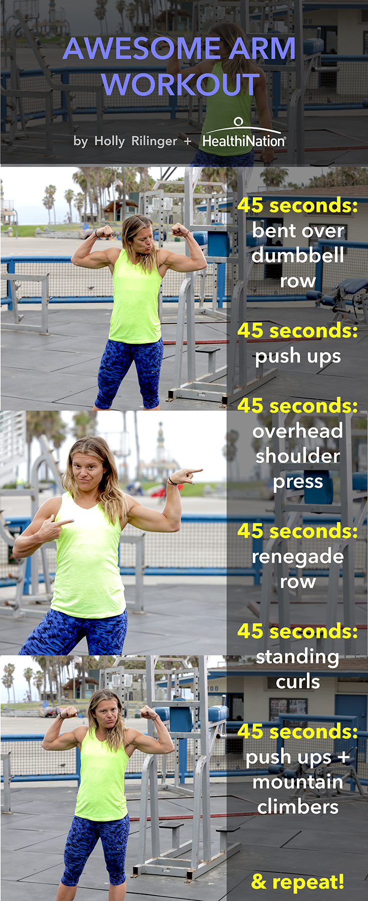 Get Your Arms In Amazing Shape With This Awesome Arm Workout Kickstart