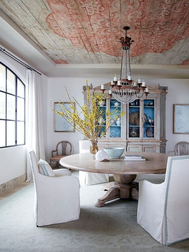 How High To Hang Your Dining Room Chandelier Chic Dining Room Dining Room Design Shabby Chic Dining