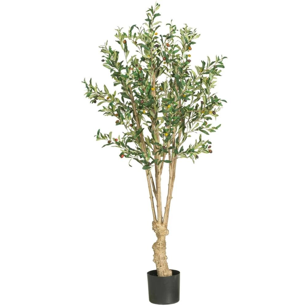 5 Olive Silk Tree Faux Olive Tree Potted Trees Silk Tree