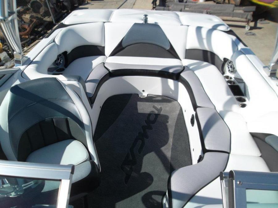 grey and black and white ski boat interiors  Google