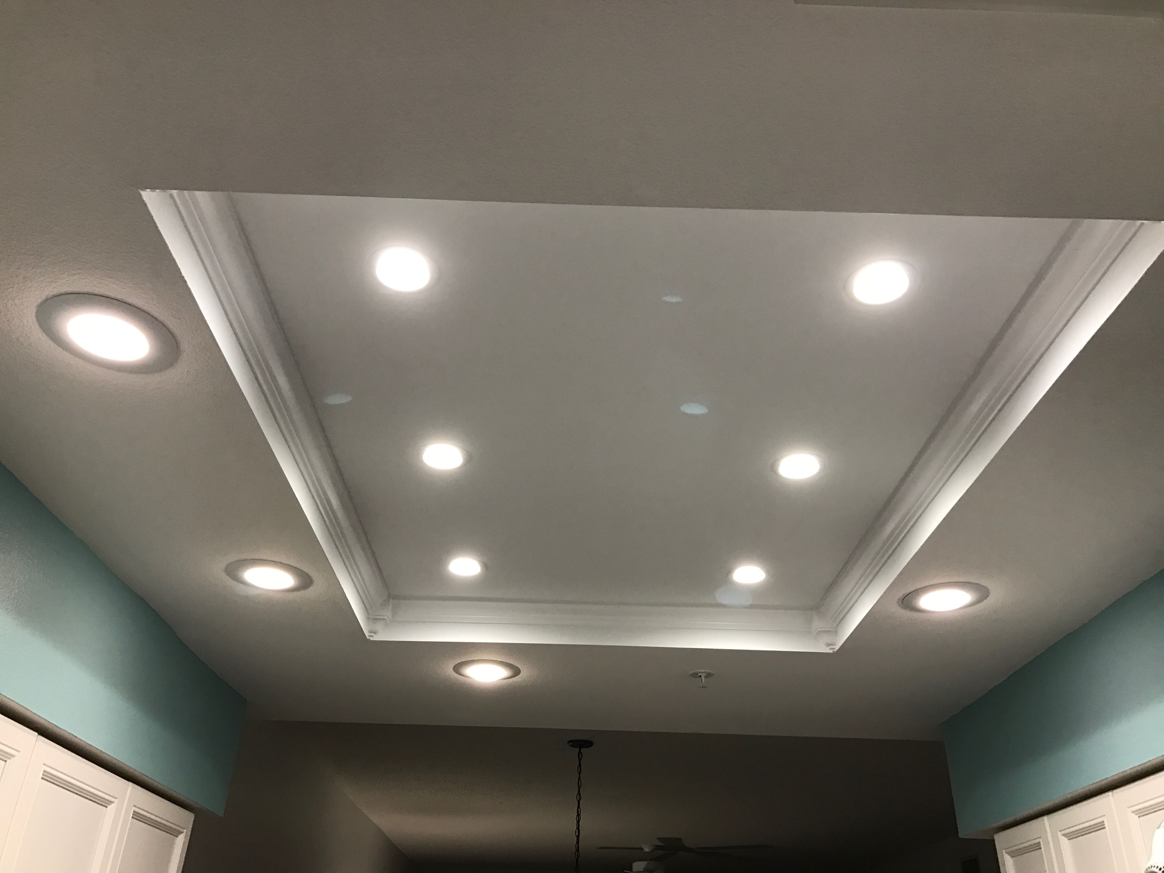 buy popular 8860e a3dff Remodeled fluorescent dome light in condo kitchen. Six 3.5 ...