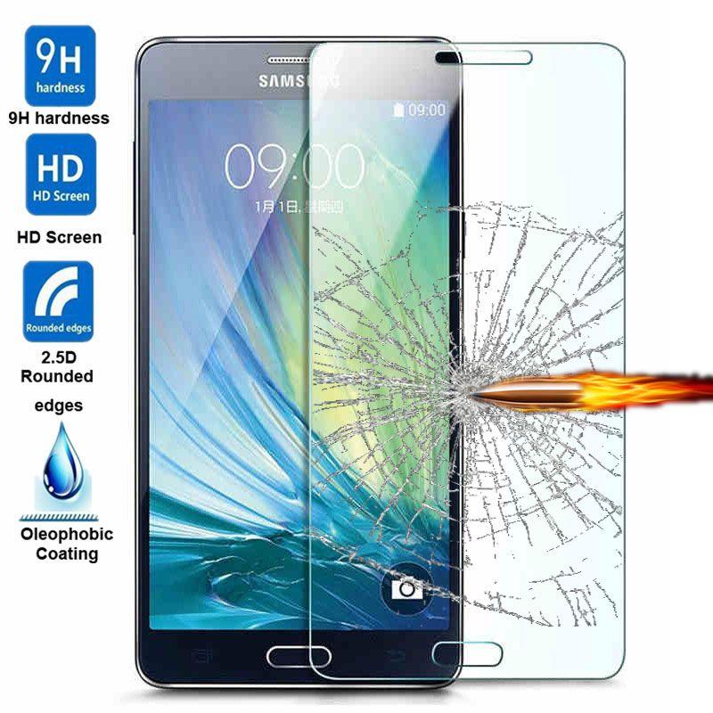 2 5d 9 H מזג זכוכית עבור Samsung Galaxy A3 A5 A7 J5 J7 2016 S5 S5 Neo S6 מקרה כיסוי מגן מסך סרט מגן משוריינת Samsung Galaxy A3 Samsung Galaxy Samsung